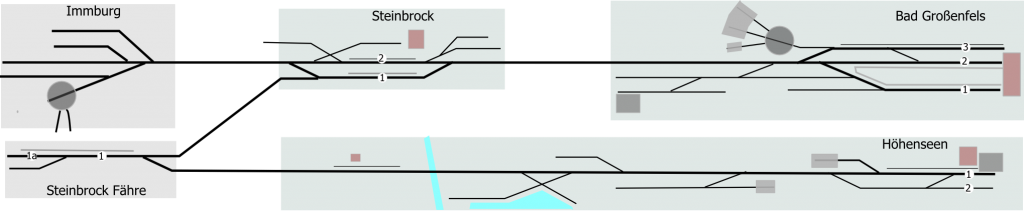 Schematischer Gleisplan